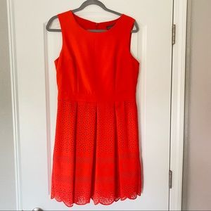 Orange Sleeveless Scoop Neck Angeleye Dress